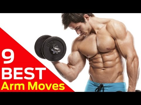 9 Best Dumbbell Moves For BIGGER Arms (AT HOME ARM WORKOUTS)