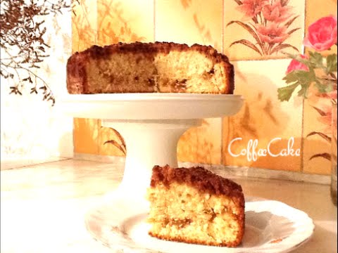 Coffee Cake Recipe - Easy Classic Crumb Topping - Streusel Swirl - SuperSimpleKitchen