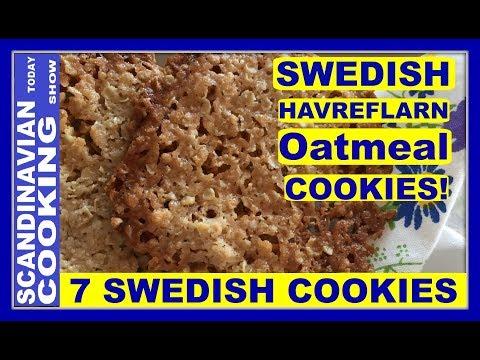 How to Make Swedish Havreflarn Oatmeal Cookies ☕ 5 Easy Ingredients