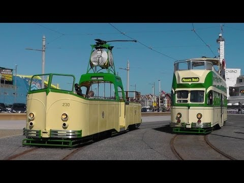 Heritage Trams In Blackpool & Fleetwood - Good Friday 18th April 2014