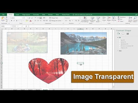 Excel Tutorial- How to Make an Image Transparent in Microsoft Excel 2017