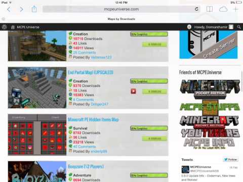 how to intall minecraft pe worlds using ifile