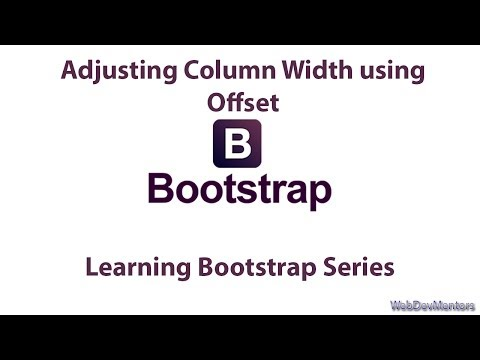 Adjusting Column Width using Offset