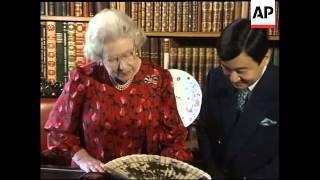 Japans Crown Prince Naruhito Visits Queen Elizabeth Ii At Windsor Castle