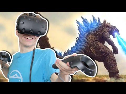 BECOME GODZILLA IN VIRTUAL REALITY!  | King Kaiju VR (HTC Vive Gameplay)