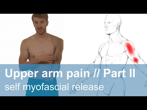 Muscle pain in the upper arm part 2 // self myofascial release