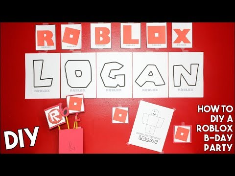 DIY ROBLOX BIRTHDAY PARTY !!! Awesome - EASY - Inexpensive - Gamer Party