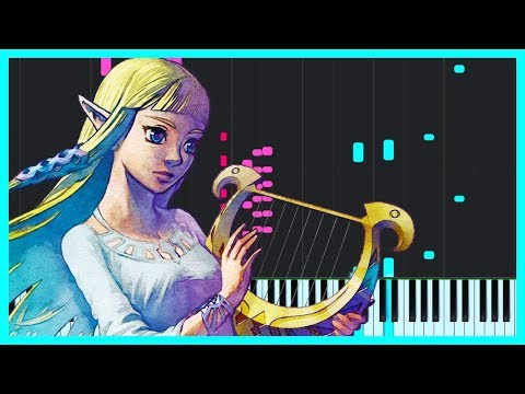Ballad of the Goddess - The Legend of Zelda: Skyward Sword [Piano Tutorial] (Synthesia) // DS Music