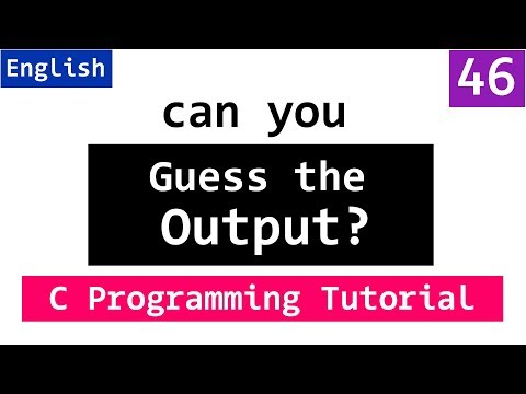 GUESS the OUTPUT | C Programming Questions and Answers for freshers