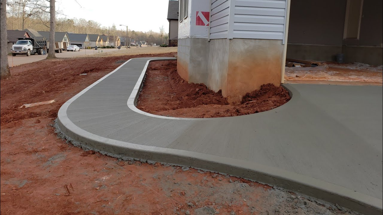 Large Concrete Driveway WITH 2 GUYS. #concrete #driveway #construction