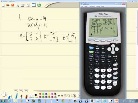 Technology in College Algebra - Linear System of Equations - Matrice Inverses - TI-84 Plus