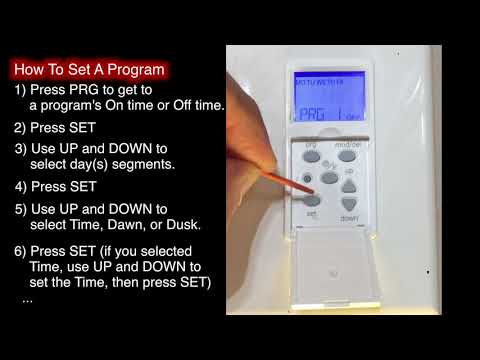 How to Program A Defiant Indoor In wall Digital Timer model 32648 - Instructions