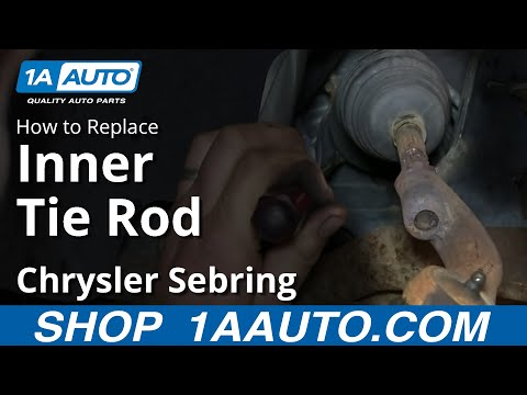 How To Install Remove Replace Inner Tie Rod 2001-05 Chrysler Sebring