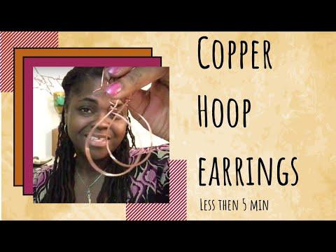 DIY Copper Hoop Earrings Under 5 Minutes