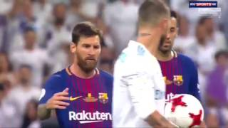 Ramos trolls Messi Real Madrid 2-0 Barca