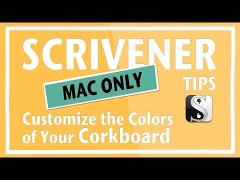 Scrivener   Customize the Colors of Your Corkboard (Mac)
