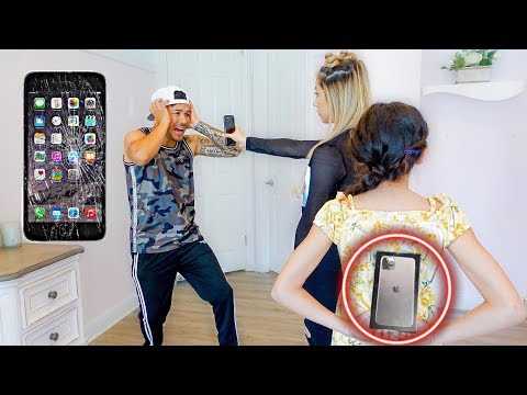 Destroying My Dad's Phone, Then Giving Him A iPhone 11 (GONE WRONG)
