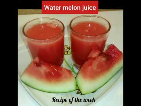 Watermelon juice/તરબૂચ નો જ્યુસ/Refreshing homemade watermelon juice/tarbooj ka juice