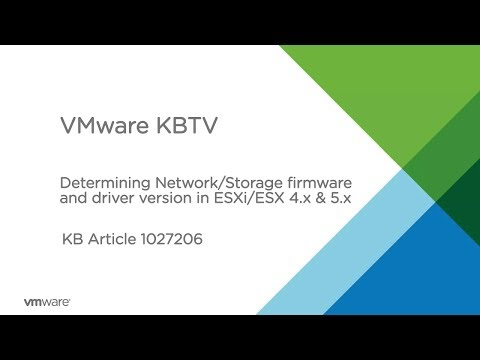Determining Network/Storage firmware and driver version in ESXi/ESX 4.x and 5.x