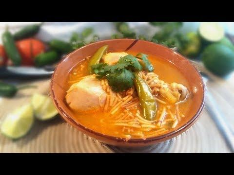Sopa de Pollo con Fideos | Recetas de Cocina | Soup with chicken