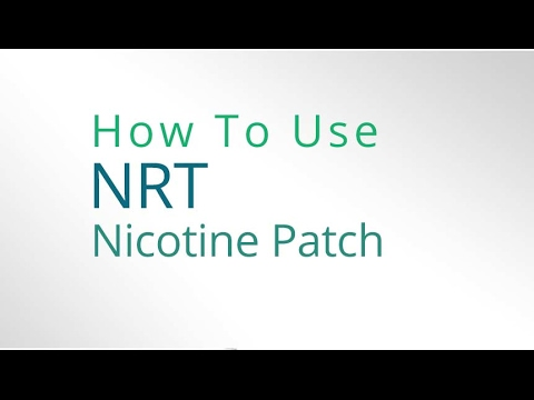 How to use a Nicotine Patch