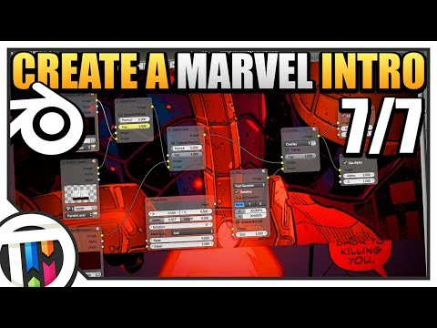 Blender Tutorial - How to make a Marvel Intro - Final Compositing (7/7)
