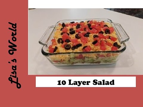 7 Layer Salad And Nachos Appetizer With Lisa's World