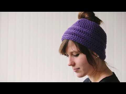 Simple Messy Bun Hat Pattern