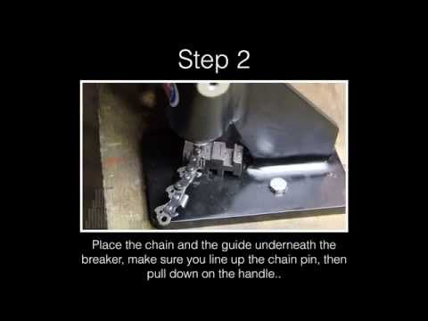 Using a Chainsaw Chain Breaker & Spinner