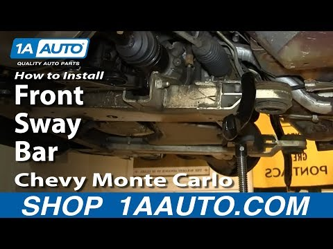 How To Install Replace Front Sway Bar 2000-07 Chevy Monte Carlo