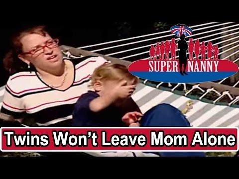 Twins Won't Leave Mom Alone | Supernanny