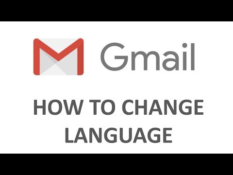 How to change language in Gmail Account