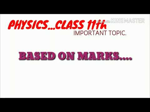 Class 11th PHYSICS IMPORTANT TOPICS|THAT WILL DEFINATELY COME IN EXAMS |MUST WATCH