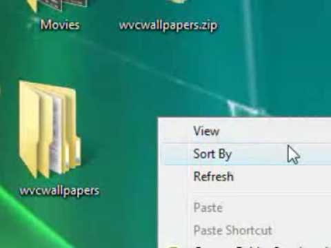 Customize your Windows Vista desktop icons by hiding, showing and resizing icons.