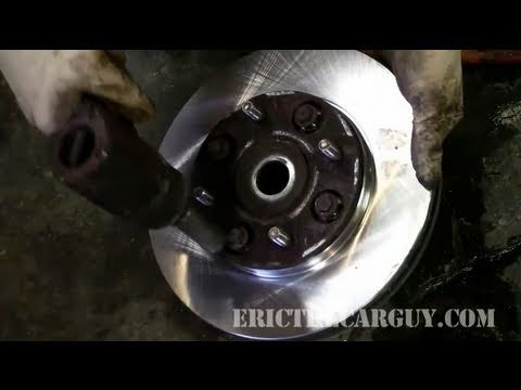 How To Replace Honda Captive Rotors On The Car - EricTheCarGuy