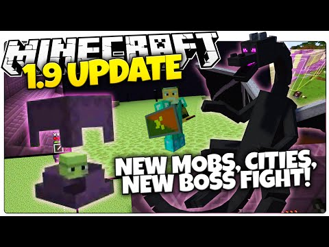 Minecraft 1.9 News   NEW MOBS, NEW CITIES, NEW BOSS FIGHT!   Minecon 2015 HINTS (Minecraft 1.9)