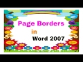 How to Make a Border Design in Microsoft Word ( తెలుగులో)