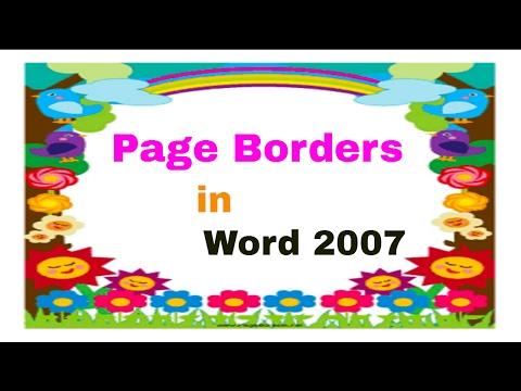 How to Make a Border Design in Microsoft Word ( తెలుగులో)