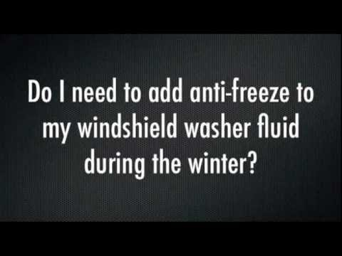 Winter Driving Tips - Anti-freeze as Washer Fluid