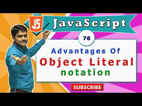 JavaScript tutorial 93 - Advantages of Object literal