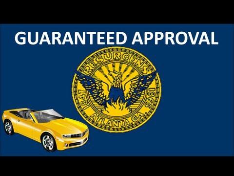 Atlanta, GA Automobile Financing : Guaranteed Bad Credit Car Loans for No Money Down at Lowest Rates