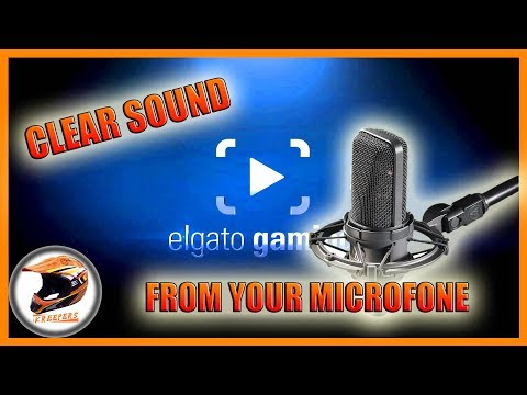 How to remove background static noise of your mic elgato recordings!!!