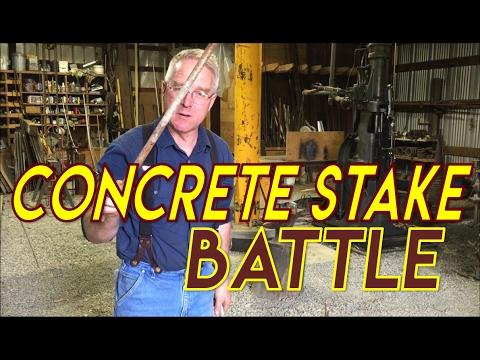 Square vs. Round Concrete Stakes