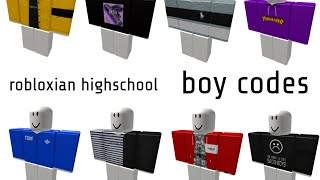 Boy Outfits For Robloxian High School Roblox Highschool Boy Codes Codes In Discription