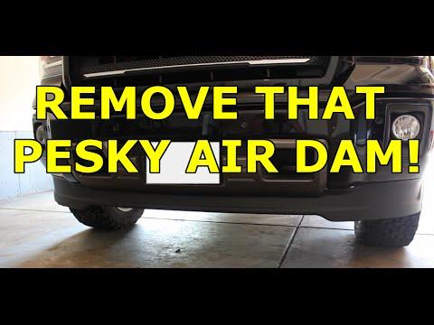 2014-2017 GMC Sierra  - Easy DIY Air Dam Removal