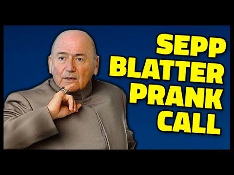SEPP BLATTER PRANK CALL  - I APPLY FOR FIFA PRESIDENT JOB!