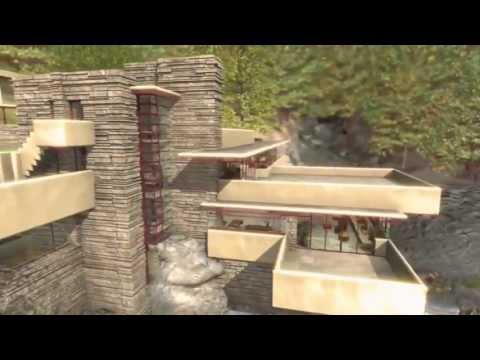 Frank Lloyd Wright   Fallingwater, House Over Waterfall.