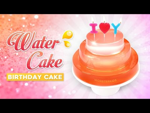 How To Make Clear Water Cake ! DIY Birthday Raindrop Cake | MonsterKids