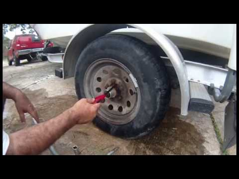 Removal of rusty nut on a boat trailer