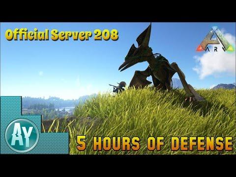 Ark: Server War on Official Server 208! 5 Hours Live!